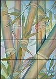 Ceramic Tile Mural - Bamboo II - by Linda Lord - Kitchen backsplash / Bathroom shower