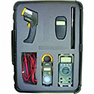 Hioki HVAC PRO Professional Test Kit with Anemometer, Infrared Thermometer, Digital Multimeter, Clampmeter