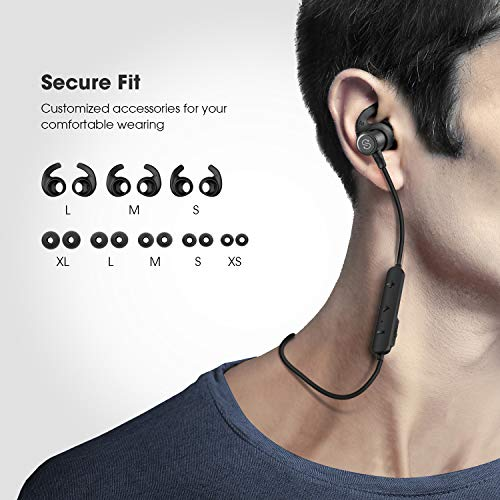 SoundPEATS Magnetic Wireless Earbuds Bluetooth Headphones Sport in-Ear IPX  6 Sweatproof Earphones with Mic (Super Sound Quality Bluetooth 4 1, aptx, 8