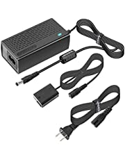 Kimaru AC-PW20 AC Power Supply Adapter NP-FW50 Dummy Battery DC Coupler Kit for Sony Alpha A5000 A5100 A6000 A6100 A6300 A6400 A6500 A7 A7II A7RII A7S A7SII RX10II RX10III RX10IV ZV-E10 Cameras.
