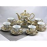 """Service à thé / café 17 pièces, décor en or """"Golddekor"""""""