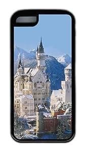 Customized Case Landscapes Neuschwanstein castle TPU Black for Apple iPhone 5C