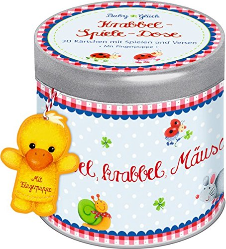 BabyGlück - Krabbel-Spiele-Dose: 30 Kärtchen mit Spielen und Versen