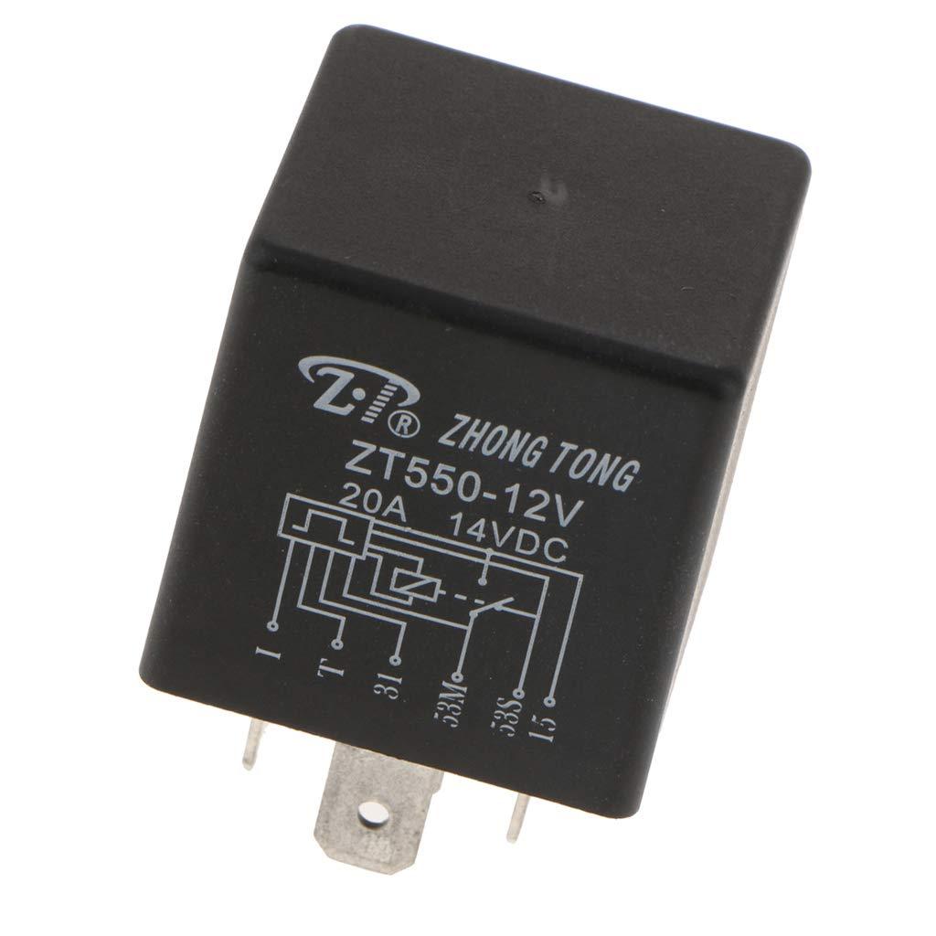 MagiDeal Zt603-dc12v 20a 6pin 6p Limpiaparabrisas Alta Capacidad Conmutación: Amazon.es: Coche y moto