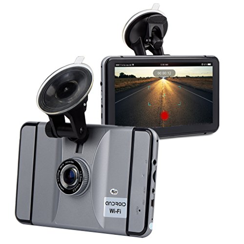 2-in-1 Dashboard Camera & 8G Car GPS Navigation, FULiYEAR Android 7