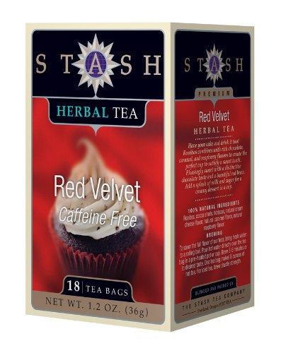 Stash Tea Red Velvet Herbal Tea, 18 Count