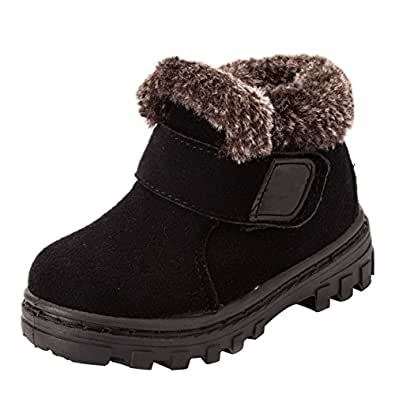 Amazon.com | Eclimb Boy's Girl's Waterproof Leather Velcro
