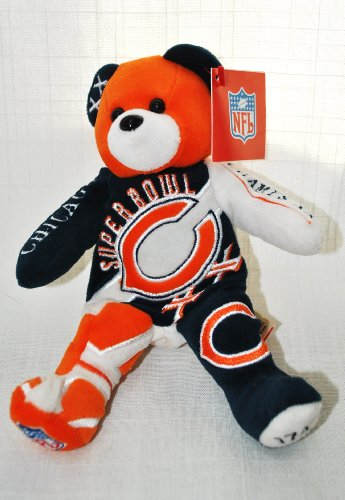 Chicago Bears vs New England Patriots RARE Offical NFL Super Bowl XX(20) Collectable Plush Bear (Patriots Teddy Bear)