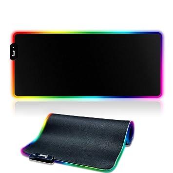 YONSY RGB Alfombrilla para Gaming,(780 x 300x 40mm) Alfombrilla de ratón XXL