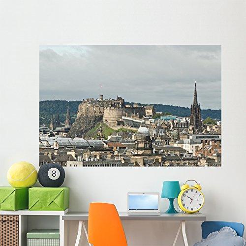 Cheap  Wallmonkeys Edinburgh Castle City Skyline Wall Mural Peel and Stick Graphic (72..