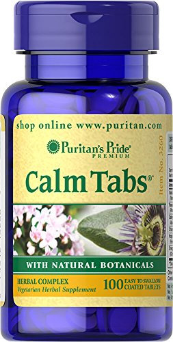 (Puritan's Pride Calm Tabs with Valerian, Passion Flower, Hops, Chamomile-100 Tablets)