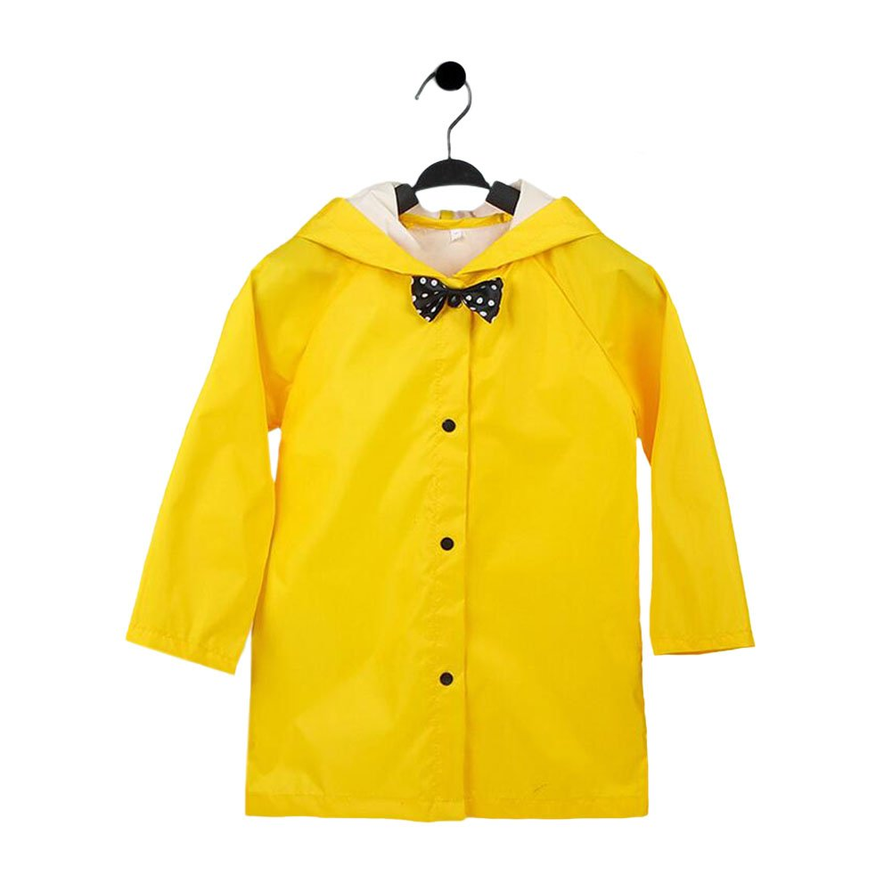 Meijunter Kids Bowknot Lightweight Breathable Rainwear Poncho Hooded Raincoat