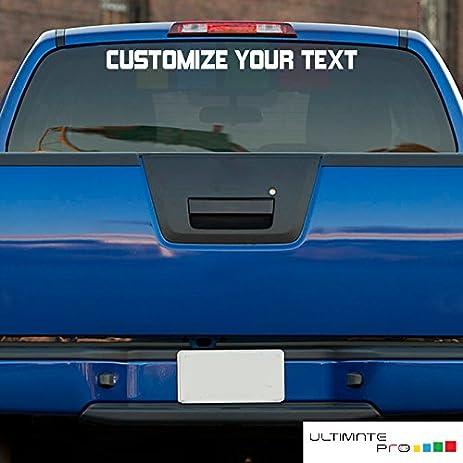 Amazoncom Custom Windshield Decal Sticker Kit Compatible With - Custom tundra truck decals