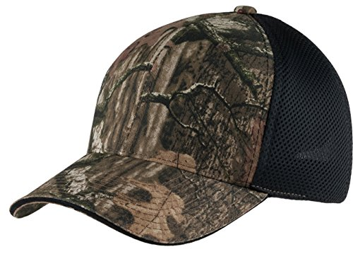 Joes USA - Mossy Oak Infinity Adjustable Camo Camouflage Cap Hat with Air Mesh Back