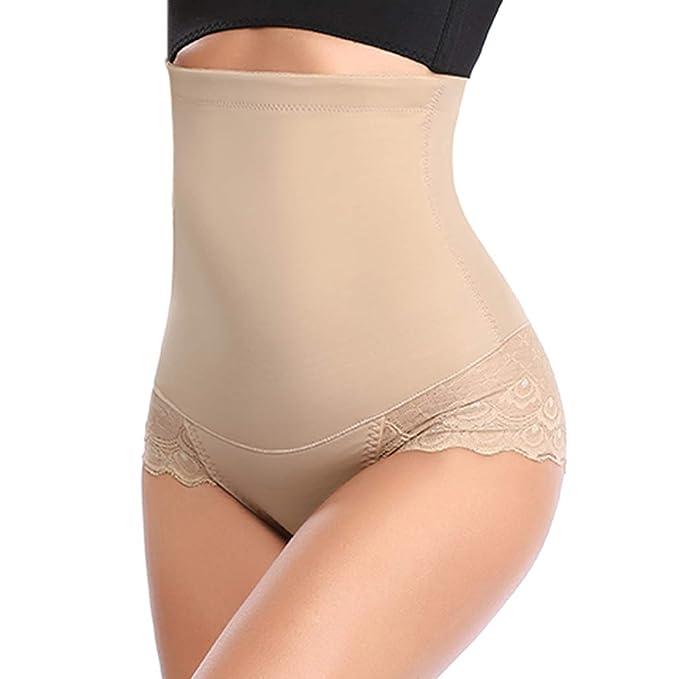 4feb3723fe Women High Waist Tummy Control Shapewear Panties Butt Lifter Waist Trainer  Body Shaper Briefs (Beige