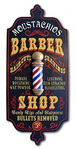 (A Simpler Time Barber Shop Personalized Sign)