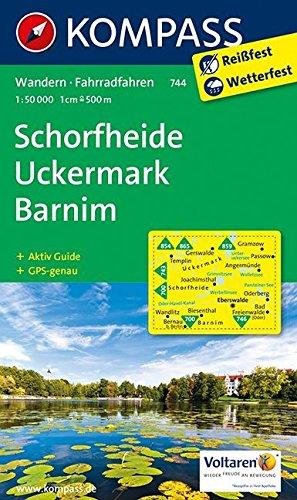 Schorfheide - Uckermark - Barnim: Wanderkarte mit Aktiv Guide und Radwegen. GPS-genau. 1:50000 (KOMPASS-Wanderkarten, Band 744) Landkarte – Folded Map, 24. April 2017 KOMPASS-Karten GmbH 3850265390 Brandenburg Brandenburg (Land)