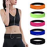 GEARWEAR Waistband Running Belt for Phone Holder Runner Accessories Pocket for Wallking Fitness Jogging Workout Gym Sports Travel Women Men