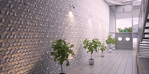 0,76-8,36sqm 3D Polystyrène Panneaux nid d/'abeilles deco 10 1pcs 50x50cm