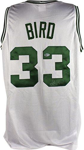 Celtics Larry Bird Authentic Signed White Jersey Autographed BAS (White Celtics Jersey Autographed)