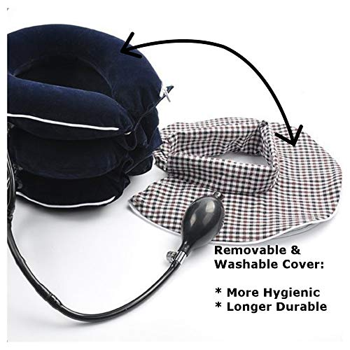 No1 Neck Traction Device + Washable Cover + Muscle Pain Relief Balm, CHISOFT (3rd Edition) Cervical Unit 3 Layer Neck Collar by CHISOFT (Image #2)