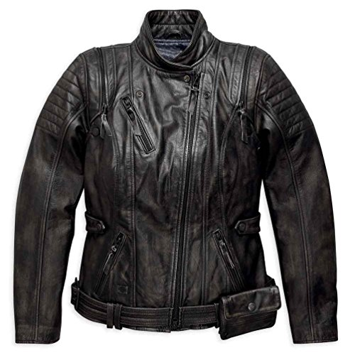 Harley-Davidson Women's Brava Convertible Leather Jacket 97173-17VW (Harley Davidson Convertible)
