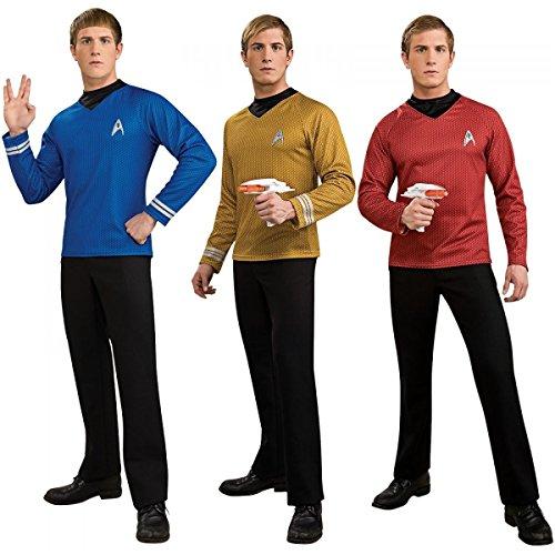 Star Trek II Men's Star Fleet Uniform Longsleeve Costume T-Shirt Reg & Plus Size