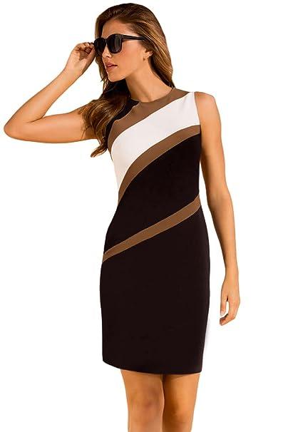 Unbranded* Women\'s Elegant Sleeveless Accents Colorblock ...