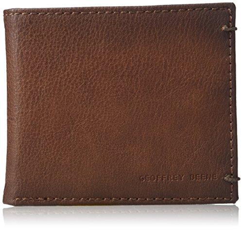 Geoffrey Beene Men's Stitched Burnished RFID Blocking Bifold Wallet, Tan, One Size