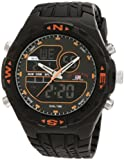 U.S. Polo Assn. Sport Men's US9059 Analog-Digital Black Dial Black Rubber Strap Watch, Watch Central