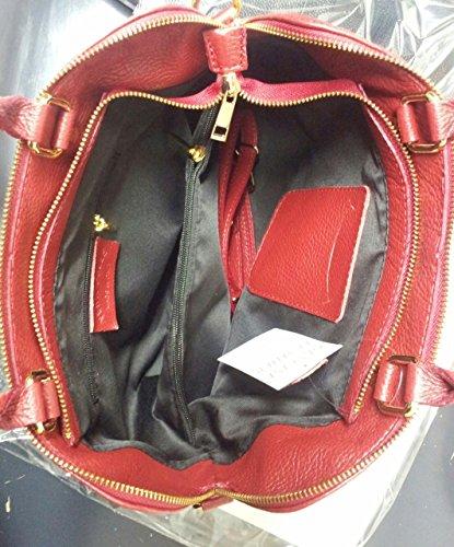 Pelle Vera morbida Made Rosso Superflybags Vgir Italy in Donna in modello Borsa qwBBtXPI