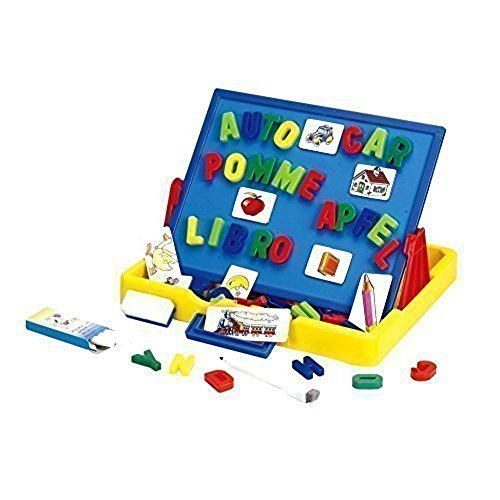 Wishland Magnetic Letters Tabletop Easel Board Toddler Toys (2 Functions)