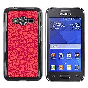 Caucho caso de Shell duro de la cubierta de accesorios de protección BY RAYDREAMMM - Samsung Galaxy Ace 4 G313 SM-G313F - Orange Red Peach Bubble