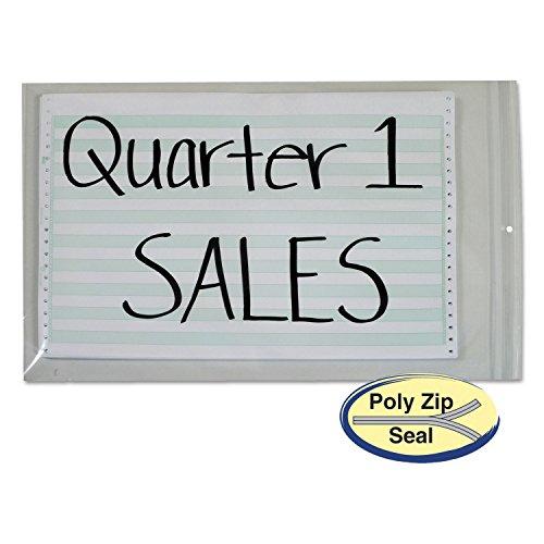 CLI47014 - Poly Zip Shop Ticket Holder for 13 x 16-3/4 (Zip Shop Ticket Holders)