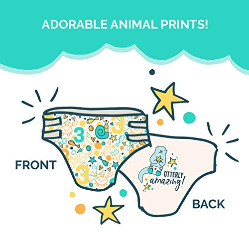 Seventh Generation Baby Diapers for Sensitive Skin, Animal Prints, Size 3, 31 Count
