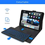 iPad 7th Generation Case with Keyboard - Compatible with iPad 10.2, iPad Air 3, iPad Pro 10.5 - Backlit, Wireless, Smart Keyboard Folio for Apple iPad - iPad 10.2 Keyboard - Black