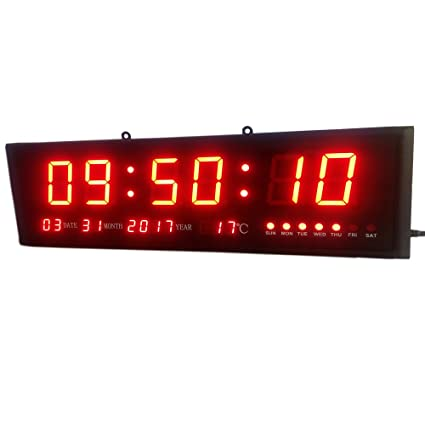 HongHao Large Digital Led Wall Modern Clock Timer with Calendar Temperature  for Living Room 7dbd6be979