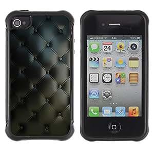Be-Star único patrón Impacto Shock - Absorción y Anti-Arañazos Funda Carcasa Case Bumper Para Apple iPhone 4 / iPhone 4S ( Diamond Quilt Classy Leather Pattern )