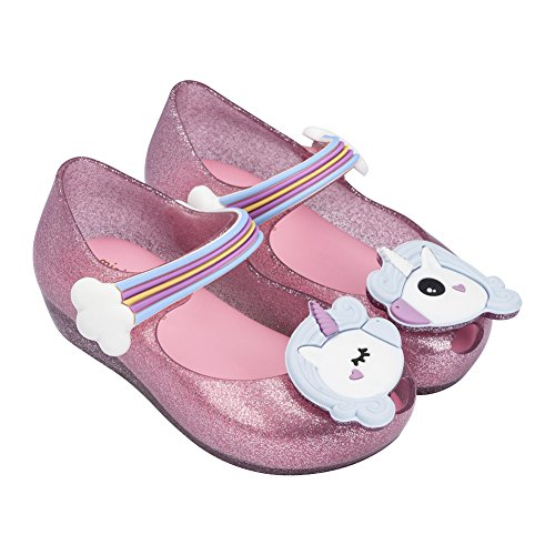 Mini Melissa Womens Mini Ultragirl Unicorn,Pink Sparkle,10 M US Toddler