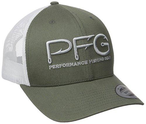 Columbia PFG Mesh Snap Back Ball Cap, Cypress Hook, One Size