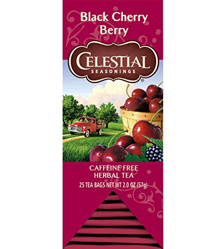 Celestial Seasonings Herbal Tea, Black Cherry Berry, 25 Count (Pack of 6)