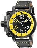 Haurex Italy Men's 6N508UYN Gun Analog Display Quartz Black Watch