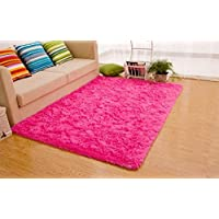 Zehui New Arrival Fashion Color for Home Decorate Hot Pink Ultra Soft 4.5 Cm Thick Indoor Morden Area Rugs Pads