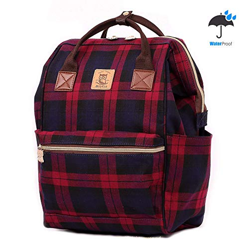 - DollyClub Laptop Backpack Computer Bag Traveling Backpack School Backpack Casual Daypack Red-Black Plaid Pattern Stylish Design Waterproof for Men, Women, Girls and Boys
