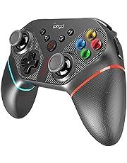 Tomshin PG-SW038A Gamepad remoto recarregável de controlador sem fio com giroscópio de 6 eixos/TURBO/Vibração de motor duplo/Substituição da função de programação de teclas para N · S/PS3/Android/Wins