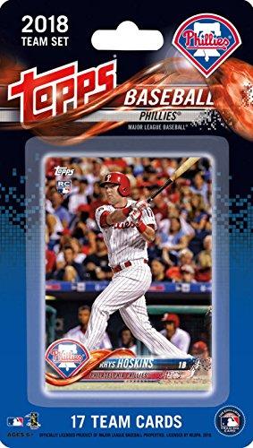 2018 Topps Baseball Factory Philadelphia Phillies Team Set of 17 Cards which includes: Rhys Hoskins RC(#PP-1), Odubel Herrera(#PP-2), Pat Neshek(#PP-3), Cesar Hernandez(#PP-4), Cameron Rupp(#PP-5), Luis Garcia(#PP-6), Maikel Franco(#PP-7), Aaron Nola(#PP-8), Jorge Alfaro(#PP-9), Carlos Santana(#PP-10), Tommy Joseph(#PP-11), Jerad Eickhoff(#PP-12), Hector Neris(#PP-13), Vince Velasquez(#PP-14), Aaron Altherr(#PP-15), Nick Williams RC(#PP-16), J.P. Crawford RC(#PP-17)