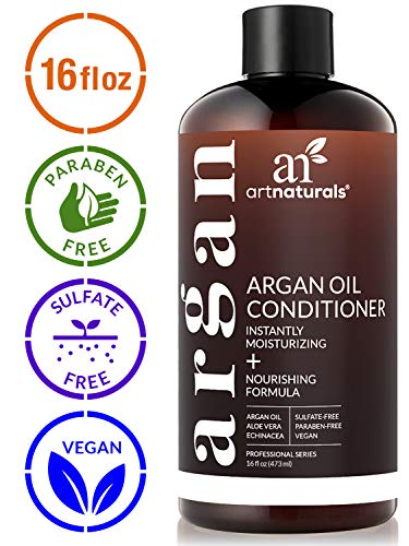 ArtNaturals Argan Oil Hair Conditioner  - (16 Fl Oz / 473ml) - Sulfate Free - Treatment for Damaged and Dry Hair - For All Hair Types - Safe for Color Treated Hair (Best Way To Moisturize Dry Scalp)