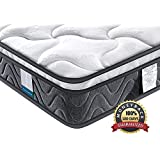 Inofia Sleeping Double Mattress, Super Comfort Hybrid Innerspring Queen Mattress Set with 3D Knitted Dual-Layered Breathable Cover-8''-Certified by CertiPUR-US-100 Night Trial