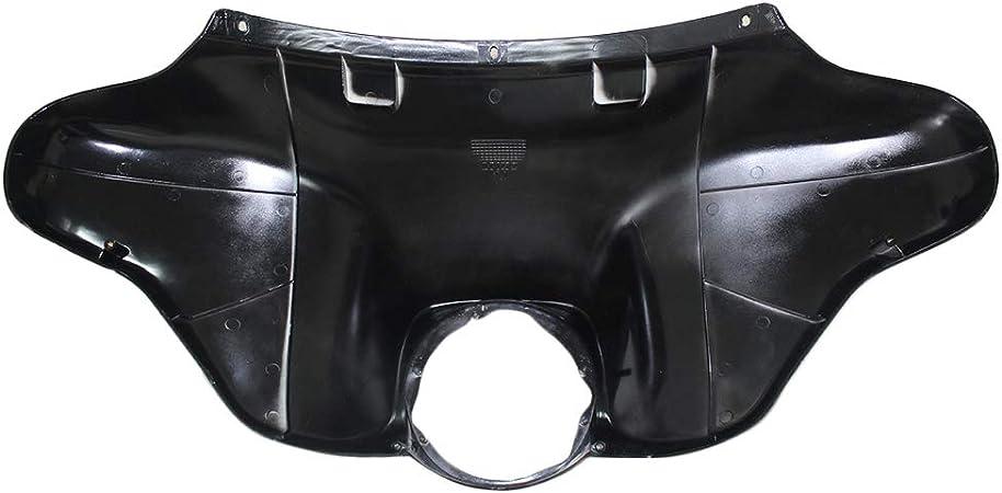 ZXMOTO Unpainted Black Inner Outer Fairing Kit Injection ABS Batwing Inner Outer Headlight Fairing for 1998-2013 Harley Davidson Road Glide FLTR