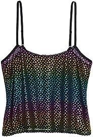 Savage X Fenty Womens Metallic Leopard Cami Pajama Top
